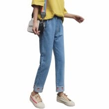 875061825-Wei's Exclusive Selection Fashion Female Jeans F-PANTS-LSZK801LBlue on JD