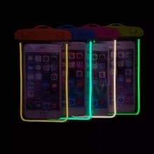 -Universal Waterproof Phone Pouch For Apple iphone 6/6S/6 Plus/6S Plus/7/7 Plus/8/8Plus/10 X Swim Transparent Bag Luminous Case on JD