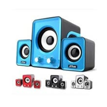 -High Quality Small Computer Speaker 2.1 Multimedia Mini Stereo Notebook Portable USB Subwoofer Blue on JD