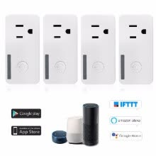 875072182-WiFi Smart Plug Mini Smart Socket Support Timing Function Remote Control, Voice Control for Amaz-on Ale-xa And for Goog-le Home IF on JD