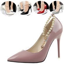 875061444-Women Glitter Pearl Stiletto High Heel Shoes Pointed Toe Party Prom Club Formal on JD