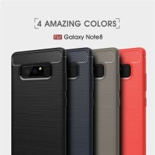 -Goowiiz Phone Case For Samsung Galaxy Note 8/J7 Max Fashion Slim Carbon Fiber TPU Soft Silicone Prevent falling on JD