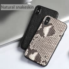 -Genuine Leather Phone Case For iPhone X Case Natural Python Skin For  iPhone 6 6S 7 8 Plus X Back Cover on JD