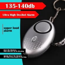 8750502-Personal Alarm, 140 DB Emergency Safety Key Chain Siren, Self-Defense Security Safe Sound Alarm With Mini LED Flashlight Best For on JD
