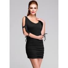 -European Style Women Fashion Package Hip Off-shoulder V-neck Sexy Stretch Bodycon Dress on JD