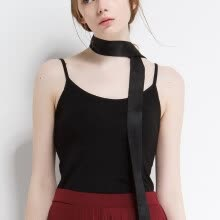 f0e7549050 Canvaus Summer Solid Color Safe Sling Vest With Chest Pad Short Section Camisole  Tanks Tops.   16.00. -PREISEI Fashion Summer Women Sexy ...