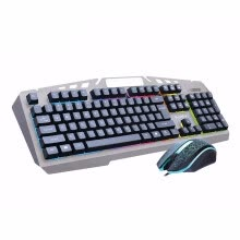 -Bosston 8350 Mechanical Feel USB Wired Backlight 104 Keys Gaming Keyboard and Mouse Set with phone holder on JD