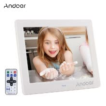 875072536-Andoer 8  HD Wide Screen High Resolution Digital Photo Picture Frame Alarm Clock MP3 MP4 Movie Player with   Remote Control Christ on JD