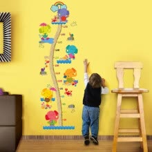 -Jingtang Children's Room Height Decoration Wall Sticker Cute Elephant Height Sticker Baby Bedroom Wall Sticker Height Wall Sticker Can be removed on JD