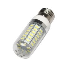 8750210-MyMei Lamp Bulb 56 LED Corn E27 White Transparent 7W Cover AC220-240V 600-630LM 5500-6500K on JD
