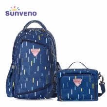 -Sunveno High-Capacity Fashion Women Backpack Waterproof Zipper Bag for Student School Bag Laptop Backpacks on JD