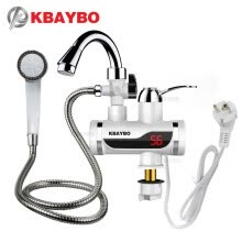 -KBAYBO 3000W electric water heater Temperature Display faucet for kitchen Instant Hot Water Tap Faucet tankless water heater on JD