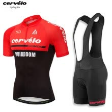 -UCI 2018 pro team Cervelo men's summer short sleeve cycling jersey bib shorts kit breathable Bicycle jersey MTB bike clothing on JD