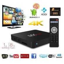 875061584-MX Plus Amlogic S905 Smart TV Box, 4K Android 5.1.1 Quad Core 1G/8G WIFI DLNA Streaming Tv Box on JD