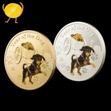 8750207-2018 dog gold mountain commemorative coins prosperous wealth 12 zodiac prosperous wealth dog coins new year commemorative coin on JD