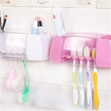 bathroom-accessories-Cntomlv Multifunctional Toothbrush Racket Holder Storage Box Bathroom Makeup Accessories Products Sets Suction Hooks Kitchen on JD