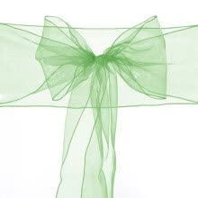 belts-cummerbunds-BEAUTY COLOURS WEDDING ORGANZA PARTY CHAIR COVER BOW SASH DECORATION FOR SALE UK GREEN on JD