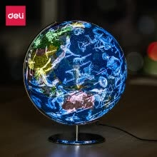 -Deli (deli) 2188 φ32cm constellation LED with light globe in English teaching demonstration on JD