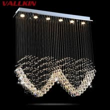 -Square Ceiling Chandeliers Lamps Crystal Hanging Pendant Lamp Chandelier Fixtures For Villa Mall Dining Room Living room on JD