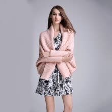 cardigans-PREISEI New Autumn Women Cardigans Tops Pink White Fashion Sexy Patchwork Long Batwing Sleeve Knitted Sweater on JD