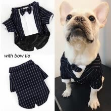 8750208-Pet Dog Stripe Suit Jacket Wedding Dress Pet Tuxedo Suit clothes puppy costume for small or medium dog Gentleman on JD