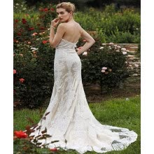 -Custom Mermaid / Trumpet Sweetheart Court Train Lace Organza Wedding Dresses with Beading Appliques by CIRCELEE® on JD