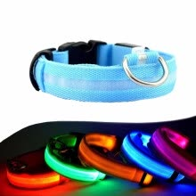 collars-harnesses-leashes-Cntomlv Night Safety LED Dogs Collar,Nylon Lights Flashing Glow In Dark Electric Pet Coolars,7Colors Pet Supplies Dog Cat Leash on JD