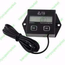 -SP-101 Spark Plugs Engine Digital Tach Hour Meter Tachometer Gauge Counter For Motorcycle Snowmobile on JD