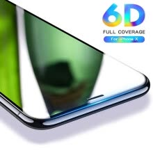 -6D Curved Tempered Glass Screen Protector For Apple iPhone X 8 7 6 6s Plus Ultra Thin Shockproof Protective Film on JD