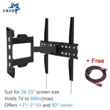 875061584-Full Motion Articulating Tilt Swivel TV Wall Mount Bracket for 26-55'LED LCD TV VESA up to 400 x 400 with Free HDMI Cable on JD