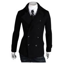 cardigans-Zogaa New Men's Wool Coat Autumn And Winter Double-breasted Casual on JD