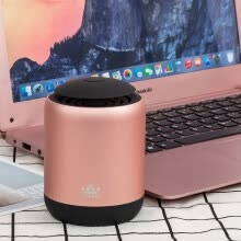 -ROYQUEEN C1 Bluetooth 4.2 Portable Card Speakers TWS Interconnect True Wireless Stereo Play Hands-free Call RGB Ambient Light All Aluminum Body Gold on JD