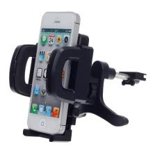 holders-stands-Universal 360 Degree Rotation Air Outlet Automatic Car Holder Bracket for Smartphone - Black on JD