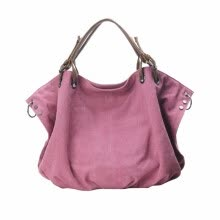 875062576-Ladies' Handbag Retro Casual First Layer Leather with Canvas Bag Rose Red on JD