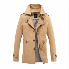 -2017 New Fashion men are upscale in winter slim Fit Casual trench coat/male pure color Pure cotton long jackets S-5XL on JD