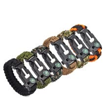 8750502-Outdoor Multifunctional Survival Paracord Bracelet Kit with Flint Fire Starter ,Compass,Emergency Whistle, Knife/Scraper 6 Pack on JD