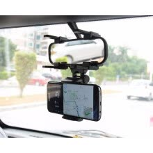 -Universal 4'-6'' Car Rear View Mount Holder for iPhone 360 Rotation Stand Holder for iPhone for Samsung Mobile Phone GPS Support on JD