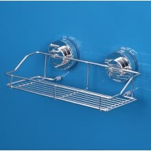 bathroom-supplies-304 stainless steel rack suction wall bathroom kitchen powerful vacuum sucker rack on JD