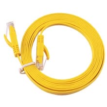 -Shanze (SAMZHE) SZ-601YL super six super-super flat cable yellow (gold-plated head) 1 m (five concessions) on JD