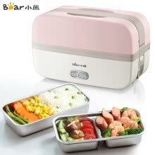 -Bear electric lunch box double 304 stainless steel liner cooking plug electric rice cooker heating lunch box vacuum pink DFH-B10J2 on JD