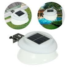87502-Solar Power Fence Lamp UFO Shape 9 LED Gutter Lighting Solar Panel Light Wall Super Bright Light Outdoor Waterproof Eaves Courtyar on JD
