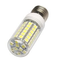 lamps-light-fixtures-MyMei  E27 8W 69 SMD 5050 LED White Corn Lamp Bulb Transparent Cover 100-120V 670-700LM on JD