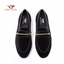 -Jeder schuh Autumn style Luxurious men velvet shoes with pearl metal buckle Fashipn party and wedding men loafers on JD