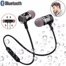 -Sweatproof Fitness Bluetooth Earphones Magnetic Sport Wireless Headphones Running Headset Stereo Super Bass Earbud In Ear with Mic on JD