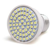 8750210-Lastest E27 60SMD 3528 Pure White PVC LED Light Bulb Lamps AC 220V 4W on JD