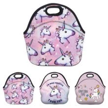 lunch-bags-Girls Kids Unicorn Lunch Bag Neoprene Handle Nursery Thermal Bag Insulated on JD