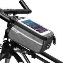 -MTB Bicycle Top Tube Phone Bag for 6' Screen Size Bike Front Frame Bag with Headphone Hole on JD