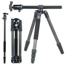 -Benro Tripod GC268TV2 Carbon Fiber Multifunctional Tripod Canon Nikon SLR Camera Tripod Fast Center Axis Horizontal Tripod Head Set on JD