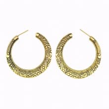 -Bali Half Circle Stud Hoop Earrings for Women Girls Huggie Leverback Hooped on JD