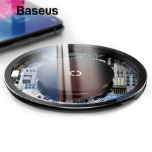 -Baseus 10W Qi Wireless Charger For iPhone XS XR XS Max  X  8  Wireless Fast Charging for  Samsung S9 S9+ S8 Note 8 Xiaomi on JD